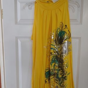 Long yellow tunic top